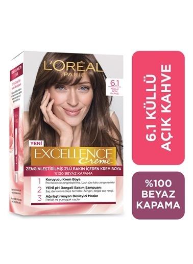 L'Oréal Paris Loreal Excellence Creme Saç Boyası 6.1 Küllü Açık Kahve Renkli